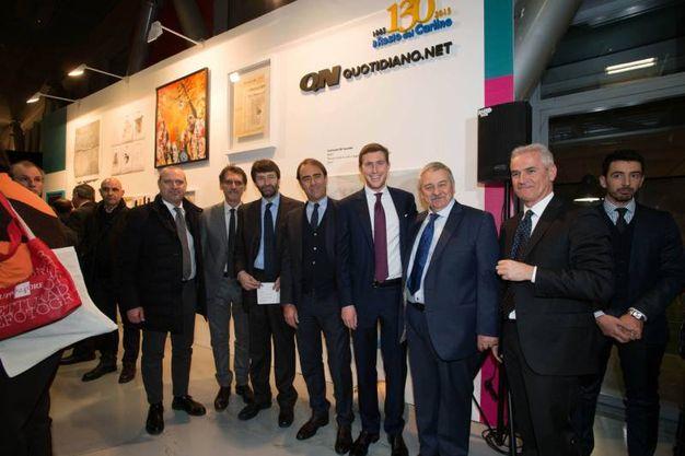 Da sinistra Stefano Bonaccini, Virginio Merola, Dario Franceschini, Andrea Cangini, Bruno Riffeser Monti e Duccio Campagnoli