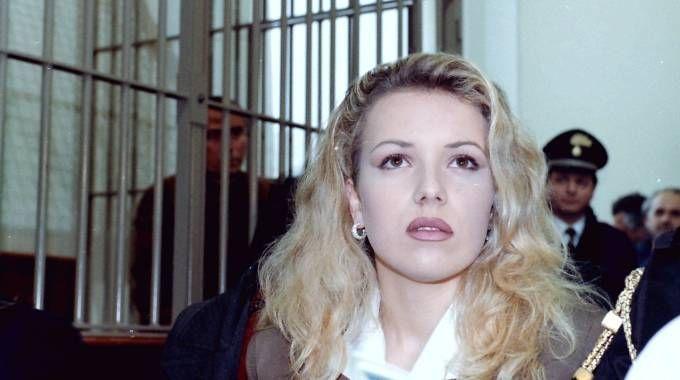 Eva Mikula ai tempi del processo ai Savi, nel 1997 (foto Pasquale Bove)
