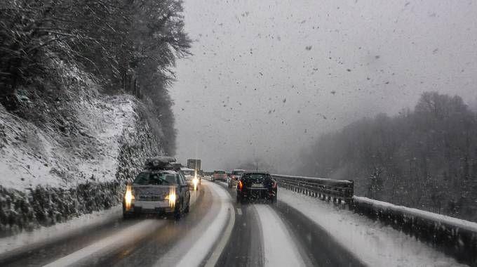 Neve e pioggia in Lombardia