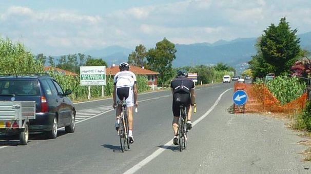 Ciclisti su strada