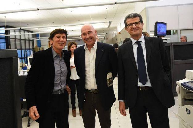 In redazione con Andrea Riffeser Monti ed Enzo Mengoli
