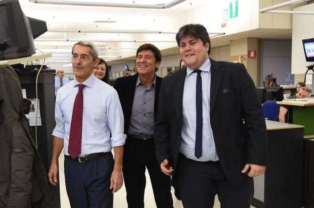 Con il vicedirettore Massimo Gagliardi e il capo della cronaca di Bologna Valerio Baroncini
