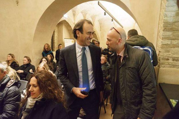 A sinistra, il direttore di Qn e il Resto del Carlino Andrea Cangini