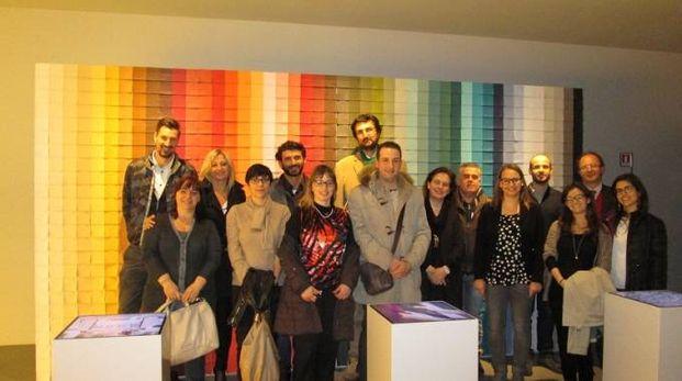 La delegazione di Confindustria nella sede di Poltrona Frau