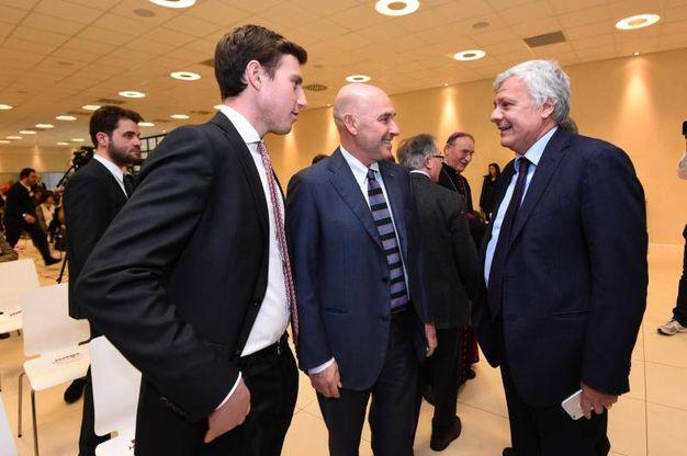 Bruno e Andrea Riffeser Monti con il ministro Galletti