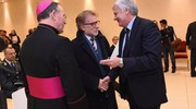 Il saluto di monsignor Ernesto Vecchi e del rettore Ivano Dionigi