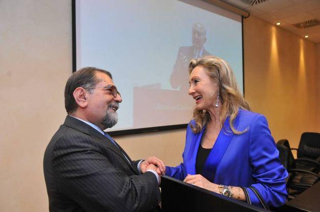 A destra, Francesca Biagi