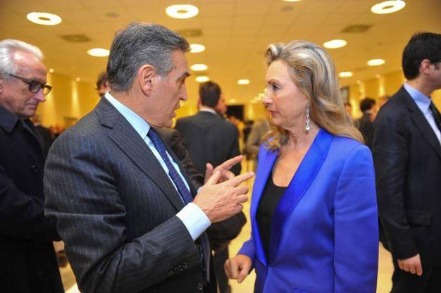 Il questore Stingone con Francesca Biagi