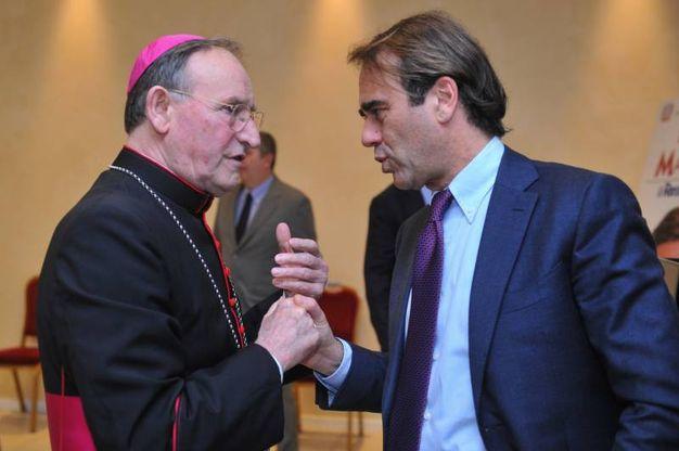 Monsignor Vecchi con Andrea Cangini