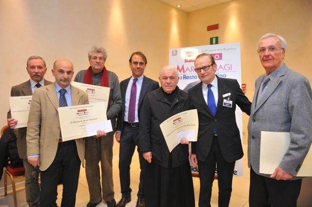 Il gruppo dei premiati di Ravenna