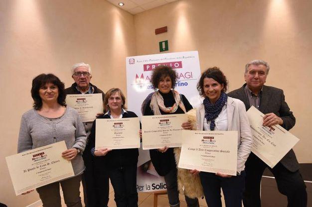 Il gruppo dei vincitori di Bologna
