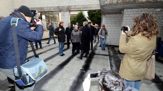 La recente visita di Rita Borsellino nell'ex pizzeria Wall Street