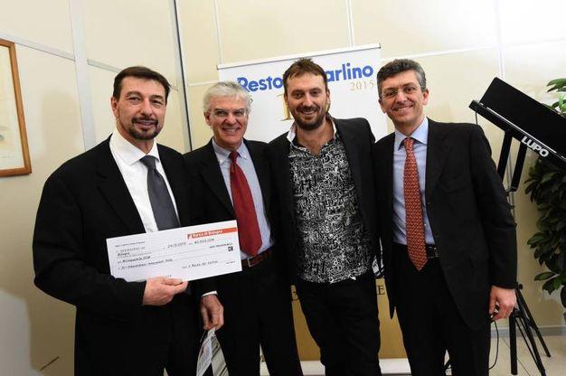Con il dottor Morselli, Luigi Raffa e Massimiliano Masetti di Banca di Bologna