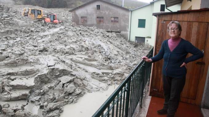 La frana di Montevecchio (foto Ravaglia)