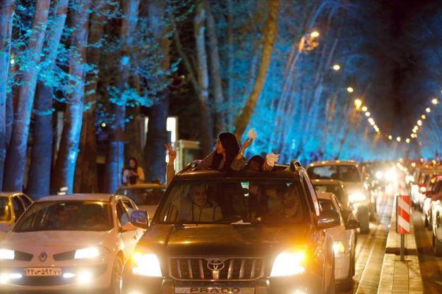 Accordo sul nucleare: i festeggiamenti a Teheran (Ansa)