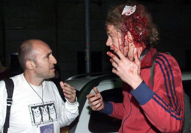 La Corte Europea dei diritti umani condanna l'Italia per tortura. Il riferimento è all'irruzione della polizia alla  Diaz nel luglio 2001 (Ansa)