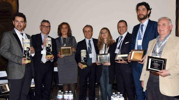 I relatori del forum organizzato nella bella cornice del Castello Estense