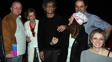 Fiorello durante l'incontro con i giornalisti (Foto Goiorani)