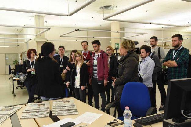La visita in redazione (Foto Schicchi)