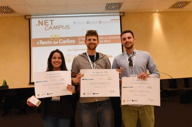 I tre premiati (foto Schicchi)