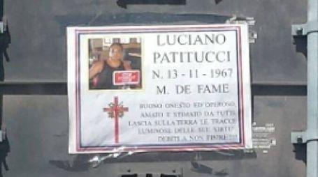 Il finto manifesto funebre di Luciano Patitucci, patron della Civitanovese