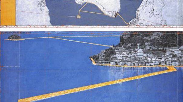 The Floating Piers, installazione di Christo sul lago d'Iseo