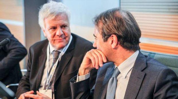 Il ministro Gian Luca Galletti e il direttore di Qn e il Resto del Carlino Andrea Cangini (foto PasqualeBove)