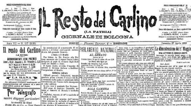 La prima pagina del 27 aprile 1890