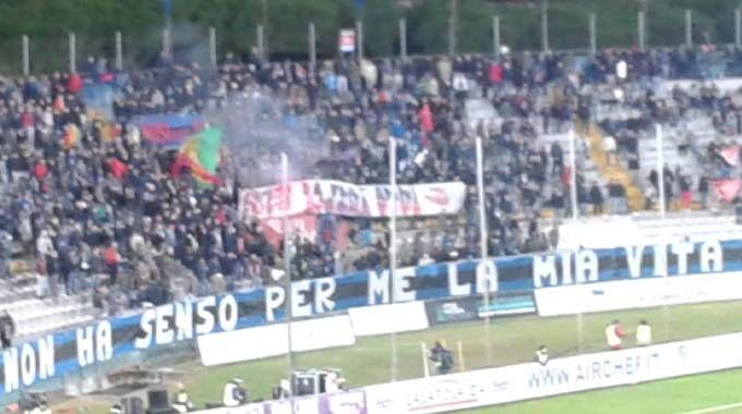 La Curva Nord, feudo dei tifosi del Pisa