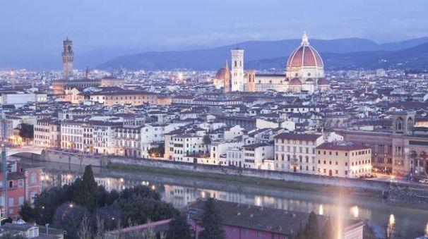 Uno spettacolare panorama di Firenze