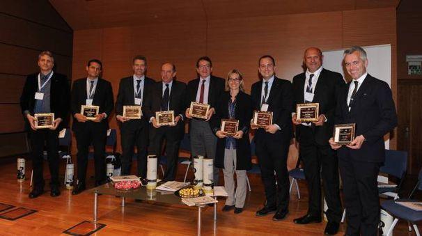 Da sinistra Stefano Spaggiari, Massimo Malpighi, Fabrizio Togni il sindaco Muzzarelli, Rossella Po, Marco Arletti, Lauro Giacobazzi e Renzo Gibellini