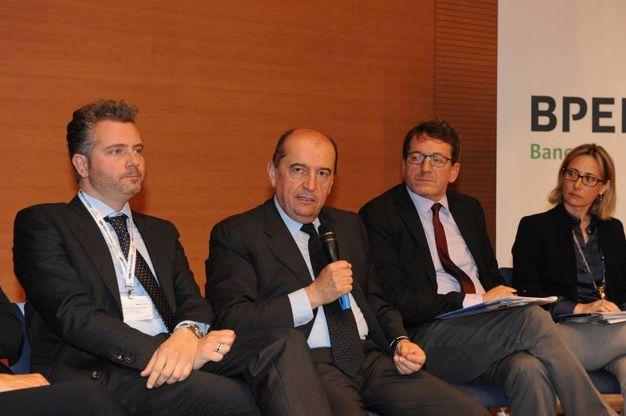 Da sinistra Massimo Malpighi, Fabrizio Togni, Gian Carlo Muzzarelli, Rossella Po