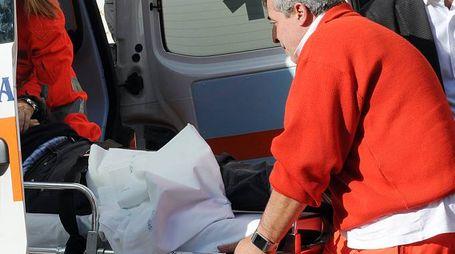 Sul luogo dell'incidente le ambulanze