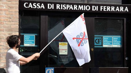 Una protesta contro la Carife (foto repertorio Businesspress)