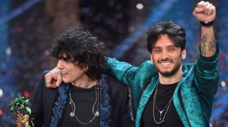 Fabrizio Moro e Ermal Meta all'Ariston