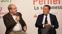 Antonello Giacomelli, con il direttore de La Nazione Francesco Carrassi