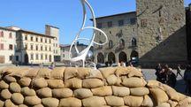 L'installazione in piazza Duomo