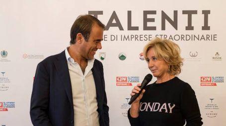Il Direttore Andrea Cangini con Alberta Ferretti