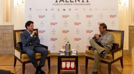 Matteo Marzotto e il Direttore Andrea Cangini