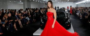 New York Fashion Week 2017, Bella Hadid alla sfilata Ralph Lauren (Lapresse)
