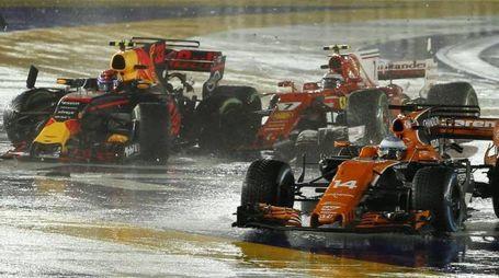 Formula 1 Gp Singapore, disastro Ferrari (Ansa)