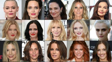 Alcune delle donne che hanno accusato Weinstein (Afp)