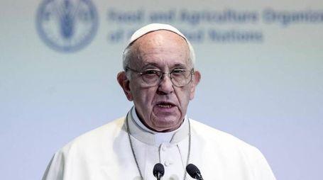 Papa Francesco alla Fao per la Giornata mondiale dell'alimentazione - Ansa
