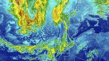 Uragano Ophelia, un'immagine satellitare del Noaa (foto Ansa)