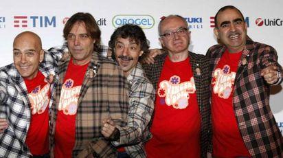 Gli Elio e le storie tese al Festival di Sanremo 2016 – Foto: LaPresse