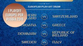 Ecco le partite di playoff europei per Russia 2018