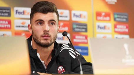 Europa League, Patrick Cutrone in conferenza stampa (LaPresse)