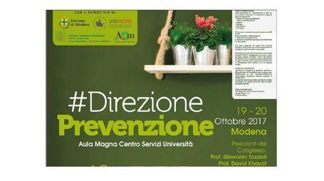 Convegno Direzione Prevenzione - Modena 19-20 ottobre 2017