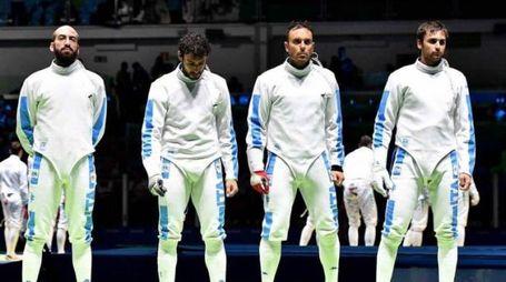 La squadra argento a squadre a Rio
