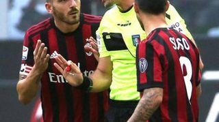 Calcio: Milan-Genoa, Bonucci espulso con la Var
